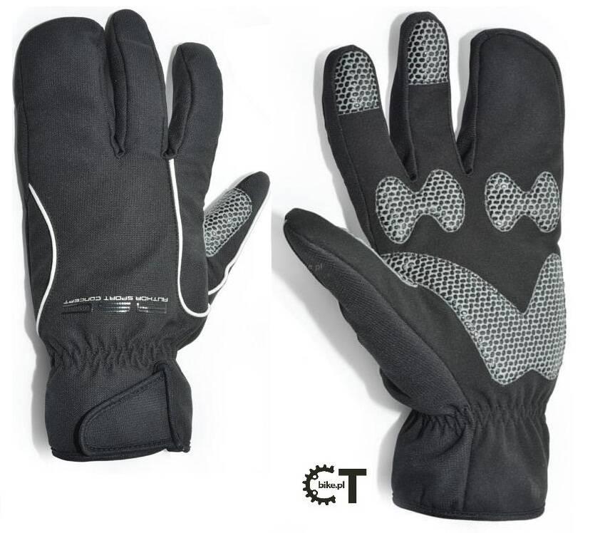 726003a280ef50 AUTHOR ARCTIC zimowe rękawiczki rowerowe z membraną wiatroszczelną czarne