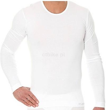 080e088c1ce3a3 BRUBECK Koszulka męska z długim rękawem biała - Internetowy Sklep ...