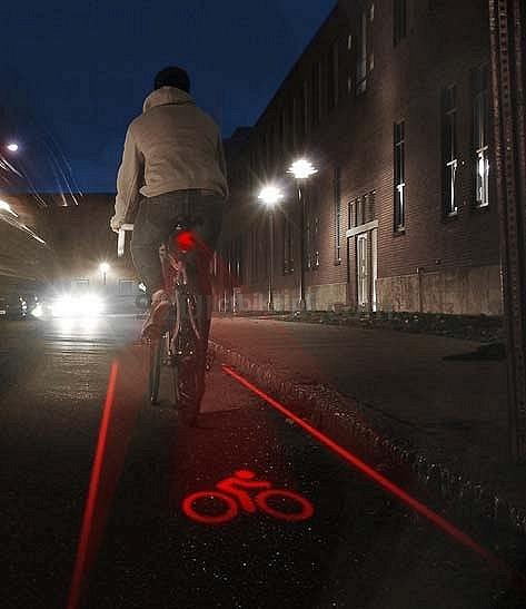 Prox Laser Lampka Tylna Led Laserowa Bezpieczna Strefa Rowerzysty